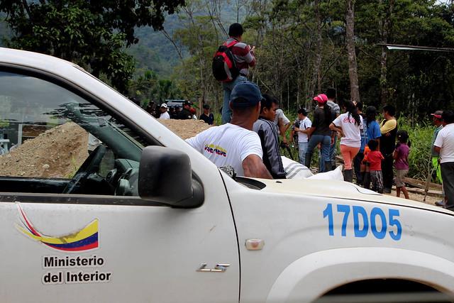 Desalojo por la Policía Ecuador y Seguridad Privada de ECSA en San Marco-Tundayme-Foto CASCOMI