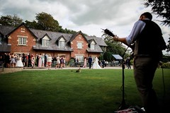 Background acoustic set on the Front Lawn of The Villa, Wrea Green