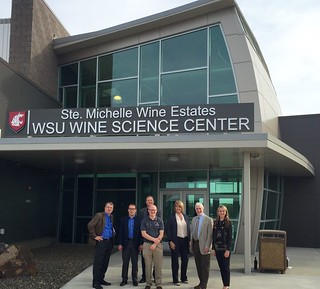 Rep. Van Werven with Higher Education Committee members at WSU Tri-cities