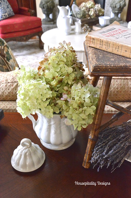 Vintage Ironstone with Limelight Hydrangeas - Housepitalty Designs