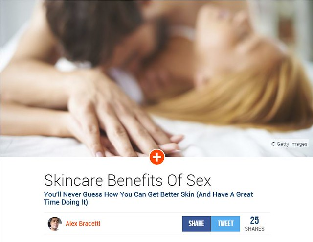 AskMen.com asked Dr. Joel Schlessinger to weigh in on the skin care benefits of sex