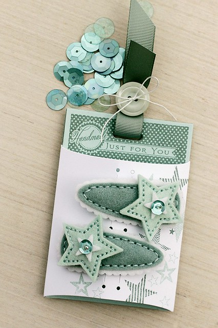Clever Barrette Covers Stitching Dies and Boutique Accessory Card by Papertrey Ink