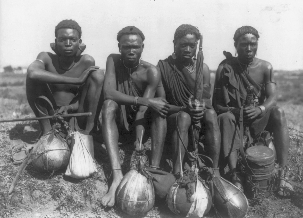 Men of the Kikayu tribe, British East Africa, circa 1920