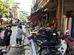Hanoi sidewalk