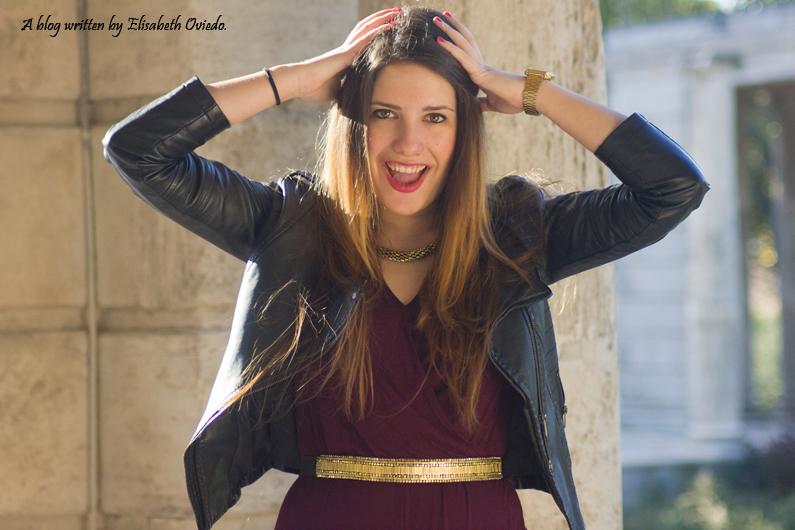 mono corto Bershka chaqueta cuero negra fotos HEELSANDROSES Elisabeth Oviedo (4)