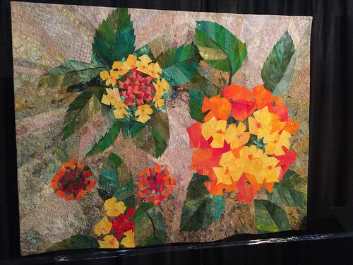 Houston IQA show flower quilt