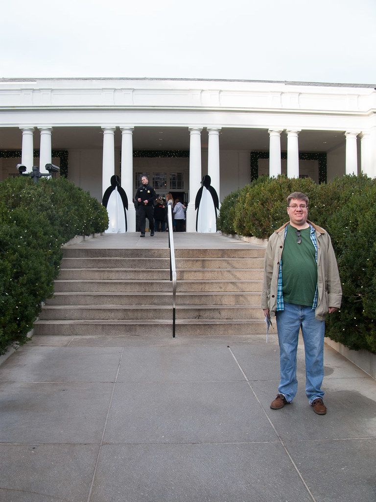 Ken at the entrance to the White House!