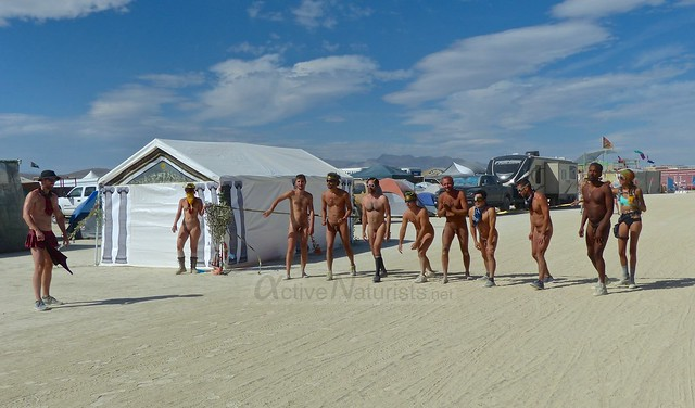 naturist run camp Gymnasium 0000 Burning Man, Black Rock City, NV, USA