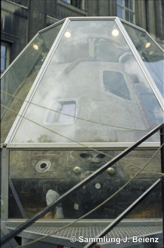 München 1971 Apollo X Deutsches Museum Innenhof Die Bilder