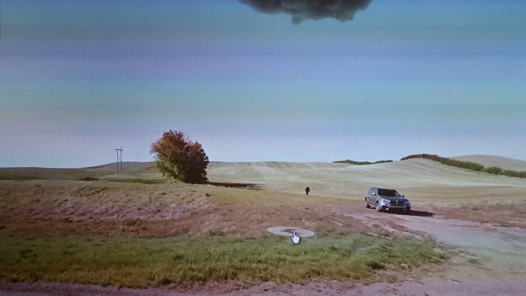 Standing in the Prairie. #ridingthroughwalls #xcanadabikeride #googlestreetview #Saskatchewan
