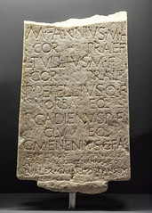 Stele inscribed in Latin and Greek with names of initiates at Samothrace from Rome and Catania