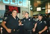 Police officers at Penn Station, New York