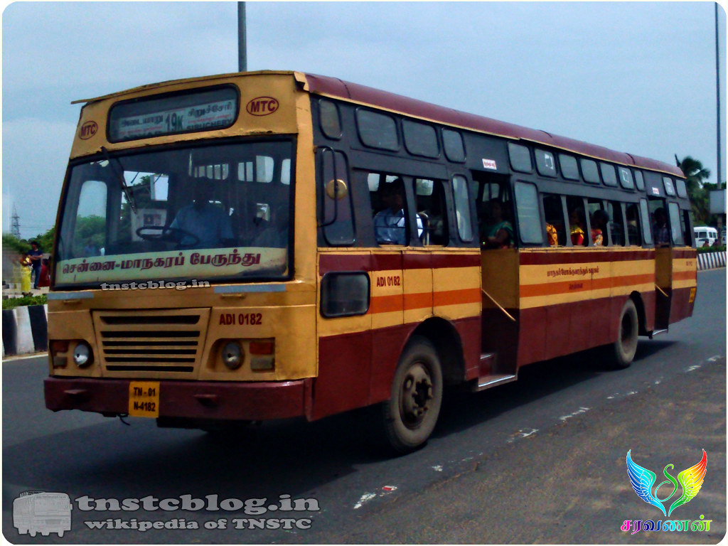 TN-01N-4182  ADI 0182 of Adyar Depot Route 19K Adyar - Siruseri.
