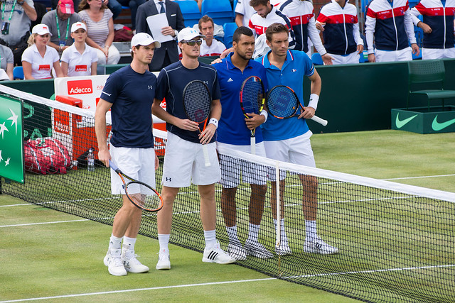 Andy and Jamie Murray vs Tsonga and Mahut