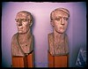 Busts by Nicapetre exhibited in the cultural centre in Brăila bearing his name