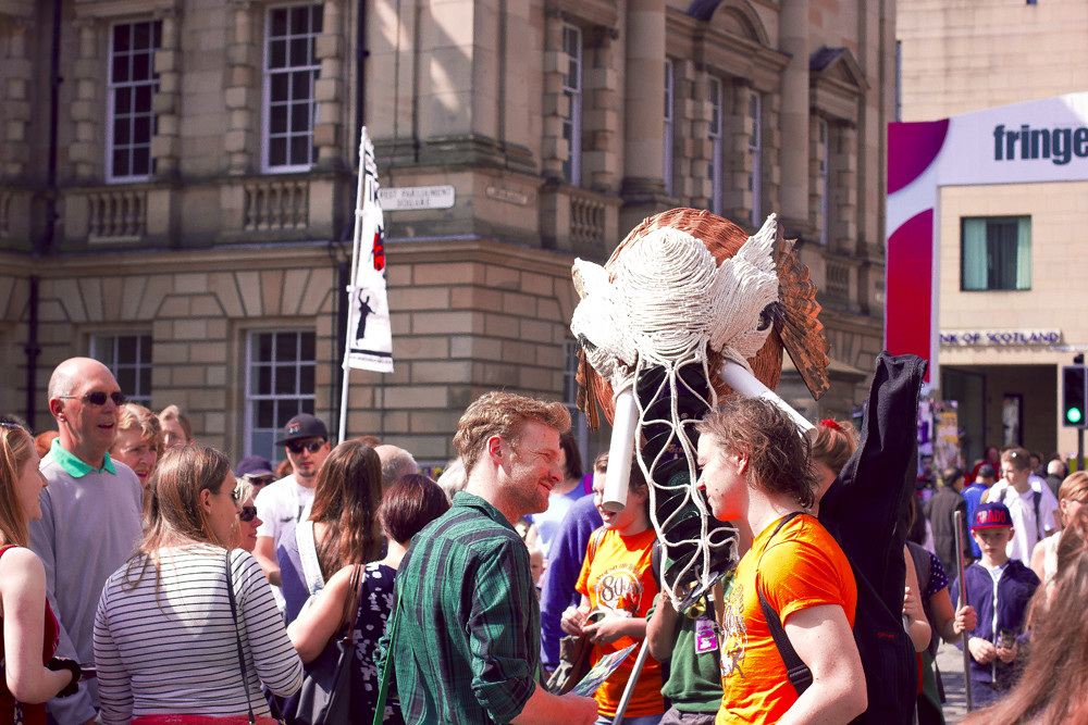edinburgh sky castle fringe festival tapeparade blog theatre edinburgh arts festival