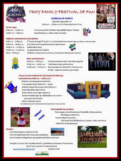 Troy Family Festival 9-12-15