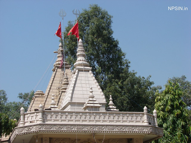 Temple Shikhar with Trishul of Lord Shiv