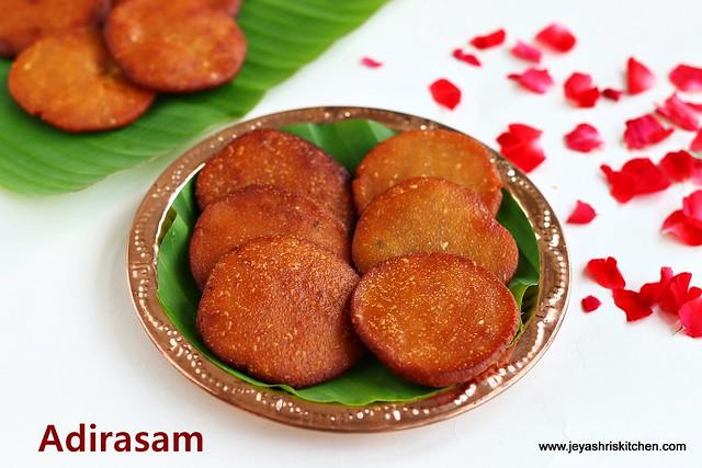 Adirasam- recipe