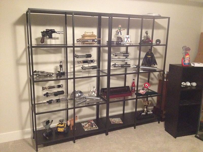 lightsaber display case ideas and links. Black Bedroom Furniture Sets. Home Design Ideas