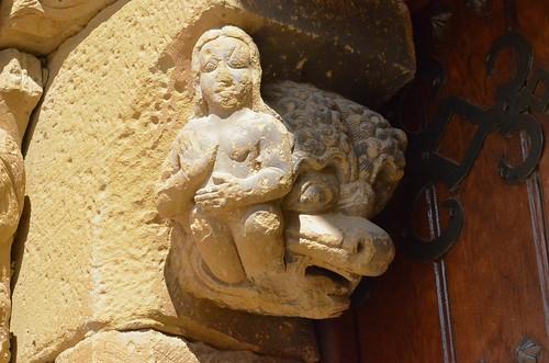 Biota (Aragon), San Miguel - sculpture romane - 14