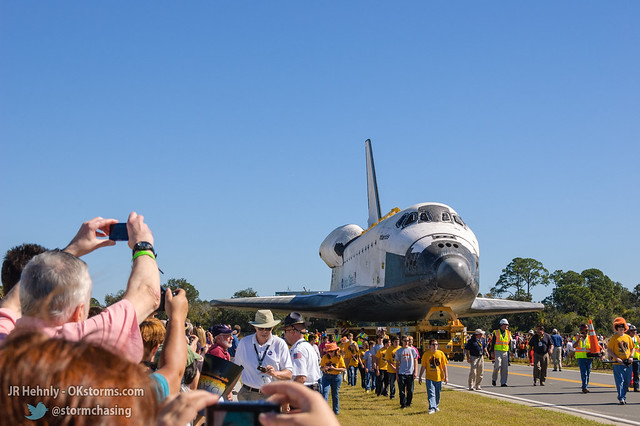 Fri, 11/02/2012 - 11:59 - The Space Shuttle Atlantis finally arrives! - November 02, 2012 11:59:00 AM - , (28.5138,-80.6742)