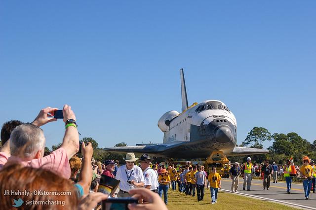 Fri, 11/02/2012 - 11:59 - The Space Shuttle Atlantis finally arrives! - November 02, 2012 11:59:00 AM - , (28.5138,-80.6742)