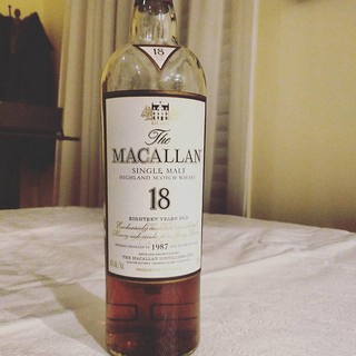 M is for the Macallan like this 18 year old delicious scotch which I need after the NY Giants dismal outing against the Eagles. #jwab #alphabetsoup #scotch