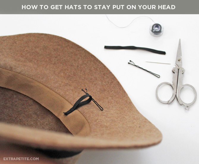 How to get hats to stay on your head bobby pins
