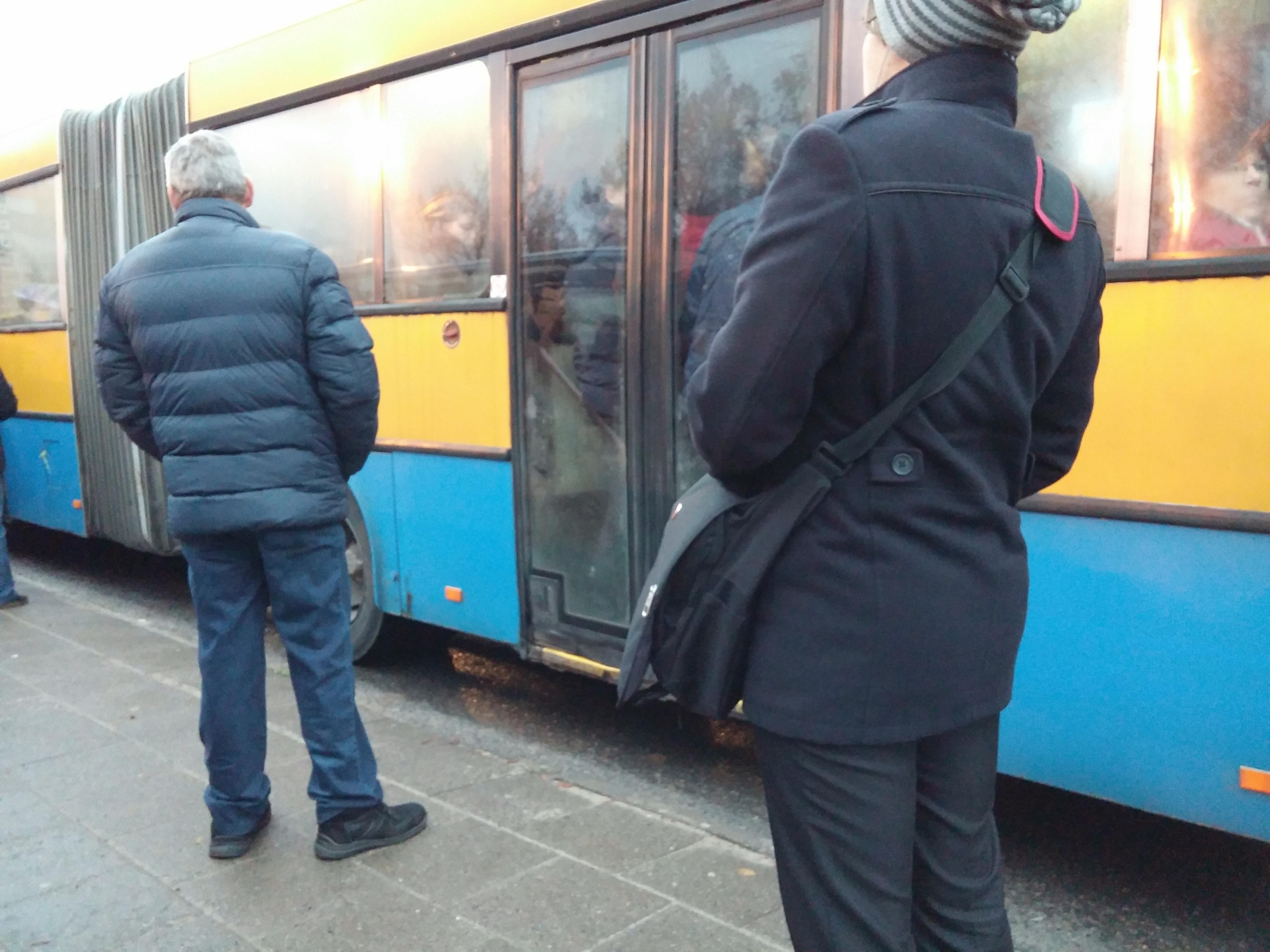 Čia maždaug tokio pilnumo tie autobusai būna