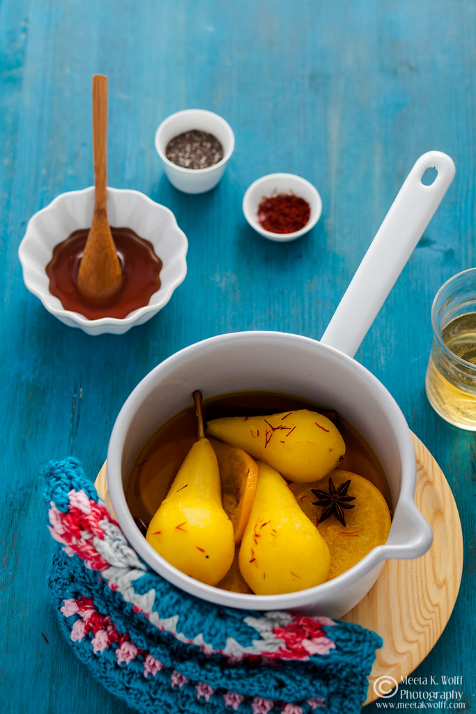 Green Tea Honey Saffron Poached Pears-Meeta K. Wolff-0035