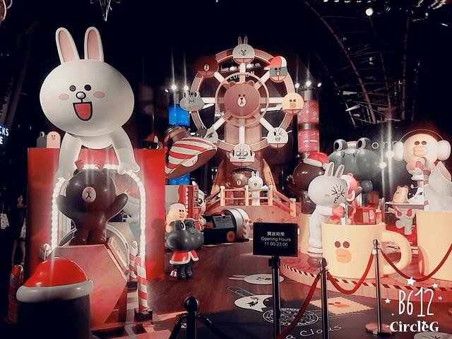CIRCLEG 徵圖 世界各地聖誕裝飾 2015 香港 旺角 朗豪坊 LINE 熊大 兔兔 莎莉 BROWN CONY SALLY (5)