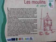 Info board about windmills