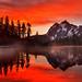 Sunrise at Picture Lake (Heather Meadows, Mt Baker NF, WA) by Sveta Imnadze