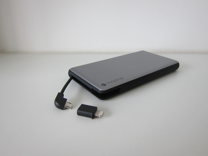 Mophie Powerstation Plus 2016 (6,000mAh) - Integrated MicroUSB Cable