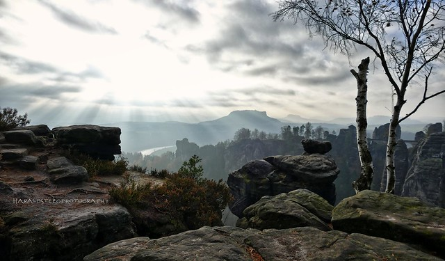 hoch oben auf den Felsen...