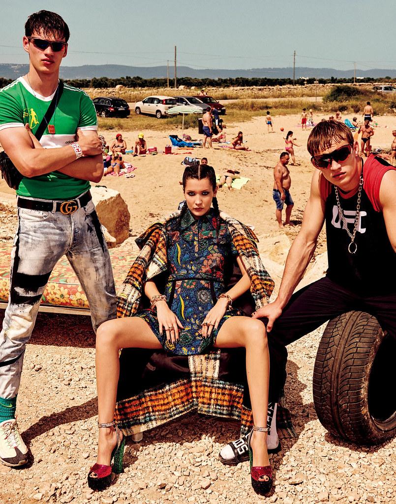 Белла Хадид — Фотосессия для «Vogue» JP 2016 – 9