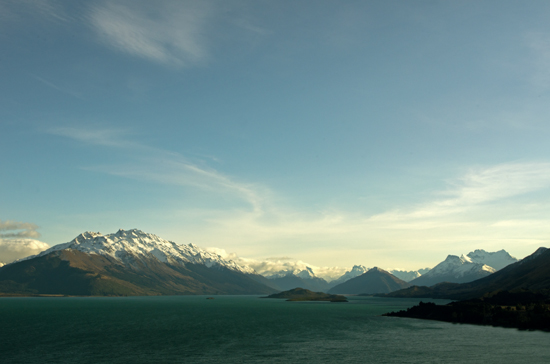 Snowy Mountains Lake Wakatipu from road to Glenorchy 23 7 15 K55795