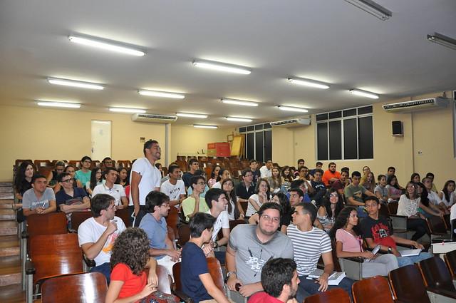 Recepção dos entrantes de 2015.2. Faculdade de Medicina da Universidade Federal do Ceará, Fortaleza.