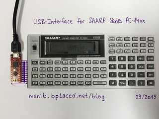 USB Interface for SHARP PC-140x Series (sketch)