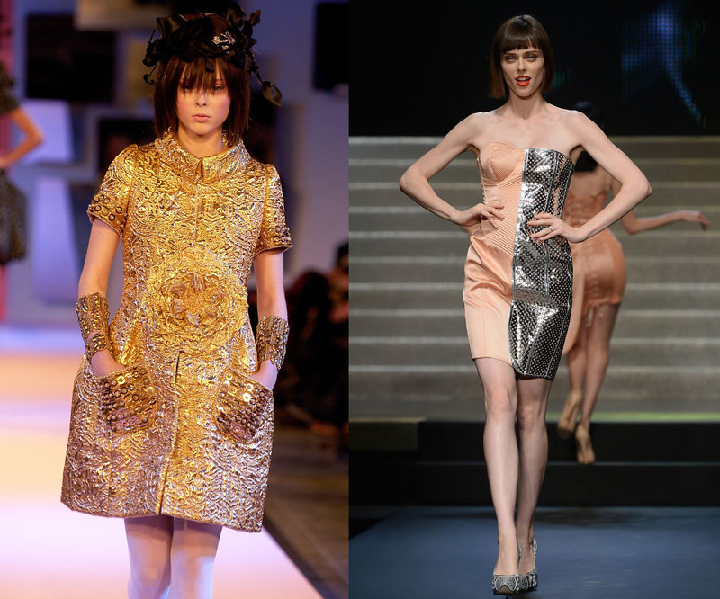 COCO ROCHA - At the Christian Lacroix Spring/Summer 2007 haute couture presentation in 2006, and walking the Jean-Paul Gaultier Spring/Summer 2014 show in 2013.
