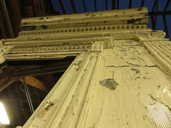 """Portion of the facade, Madison-Wabash """"L"""" station"""