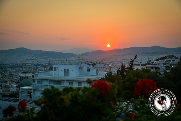 Sunset over Athens Greece