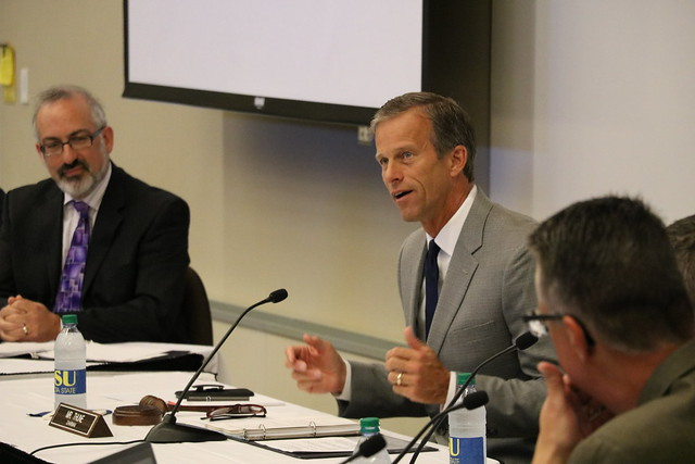 U.S. Sen. John Thune and witnesses