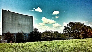 Abandoned drive in movie theater in Brenham Texas