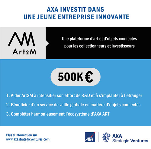 #Art #Insurtech = @AXAVentures invests 500,000€ in @Art_2_M, an art and connected objects platform for collectors and investors