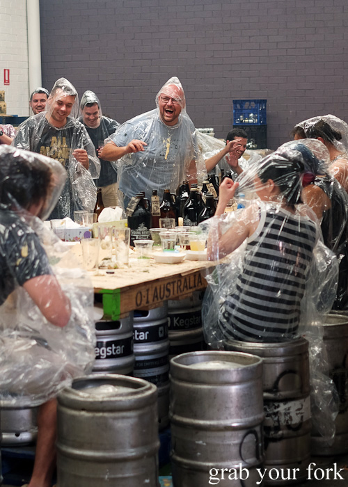 Food fight fun at the Feral Party by Pinbone at Young Henrys for Good Food Month 2015