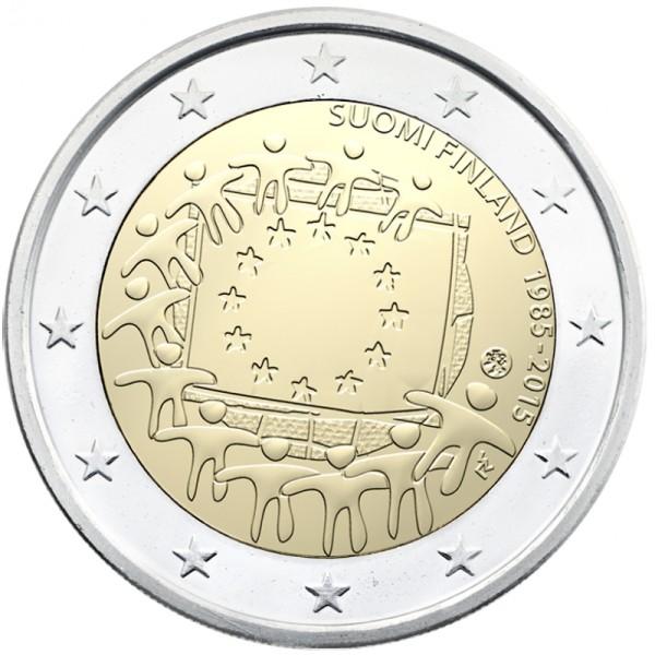 2 Euro Fínsko 2015, Vlajka EÚ