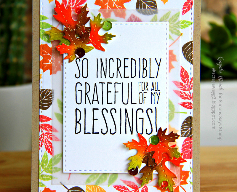 SSS Thanks giving card closeup
