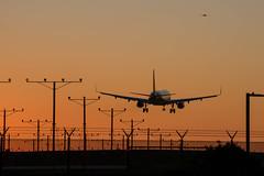 Landing LAX at Sunset